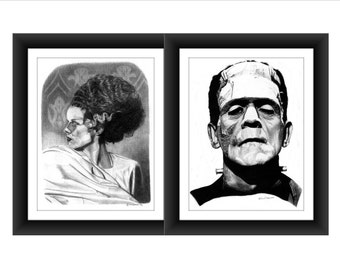 Bride and Groom...sort of...8 x 10 signed and numbered prints - Original Graphite Portraits