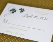 Custom Listing for Kate S. - Classy Clover Wedding Invitation, RSVP & Thank You Card