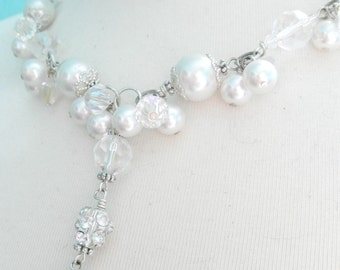 Luxe Pearl Cluster Necklace
