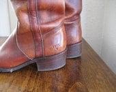 Vintage Frye Boots Reddish Brown Leather