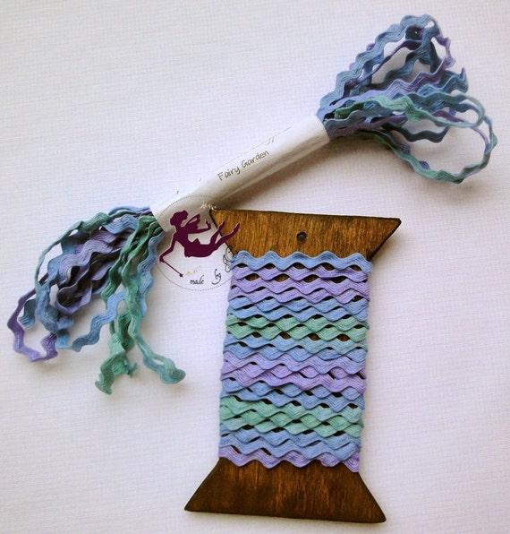 Fairy Garden - Hand dyed ric-rac (trims), multicolor