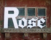 ROSE in Vintage Wooden Letters Sign free shipping