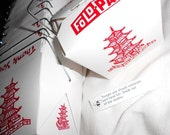 """Chinese Take-out Boxes -6 . . . Party Favors or Gifts or Wedding or Shower . . . or """"Chinese Food"""""""