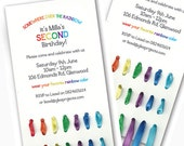 Printable Rainbow & Ribbon Invitation