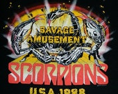 RESERVED FOR CARLA 1988 Scorpions Tour T Shirt Vintage