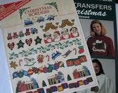 Christmas Designs  Applique and Transfer  - 2  Books