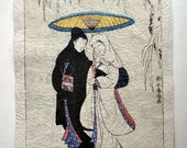 Japanese antique print - 010 - Aged Finish