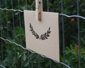 Laurel / Simple, Modern, Kraft Folded Card
