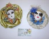 Vintage  Masks Anco Porcelain Masks 2