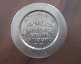 Antique Silver Plated Collapsible Cup Folding Stirrup Vest Pocket Cup Advertising Greenhut - Siegel Cooper