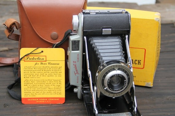 1950's Kodak Tourist II Camera with Case & Box