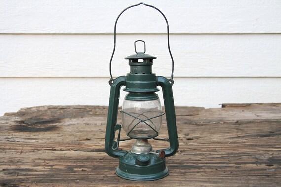 Vintage Green Swallow Brand Lantern