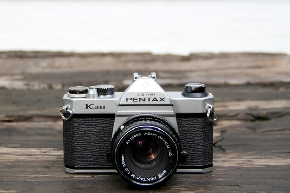 1980's Pentax K1000 Camera with 50 mm SMC-M lens