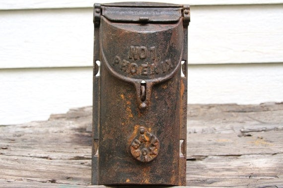 Hold for Susan - Vintage Griswold Cast Iron No 1 Phoneix Mailbox