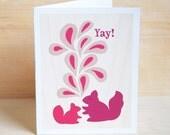 Yay Squirrels Greeting Card