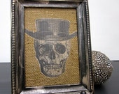 Skull Picture Burlap Wall Hanging Decoration Sale