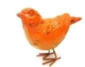 Vintage Autumn Orange Bird