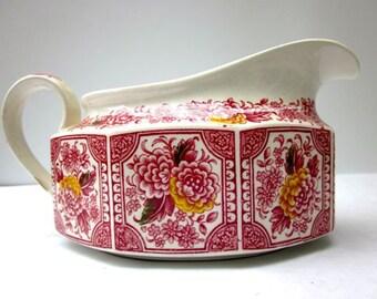 Vintage Gravy Saucer Red Ironstone Porcelain Tureen
