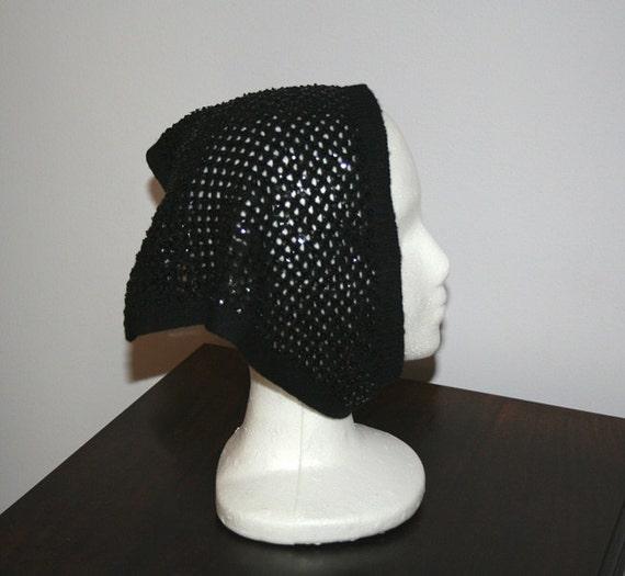 Knit Scarf Black Sequin