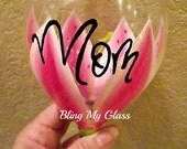 Mom Tiger lilly wine glass (comes with free box)