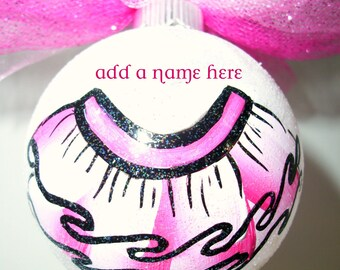 Hand painted tutu/ballet glass ornament by Bling My Glass( ready to ship)