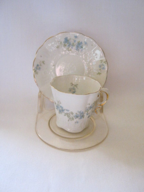 Now on Sale Beautiful Austrian Demitasse CUP and SAUCER Set Flower Pattern