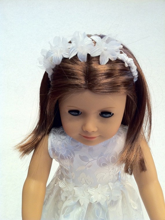 First Communion Doll Dress - fits 18 inch American Girl Style Doll