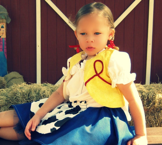 Toy Story's Jessie Inspired Costume/ Perfect Pageant Wear or for a Toy Story Inspired B-Day Party/ Available Sizes 2T  3T  4T  5  6X