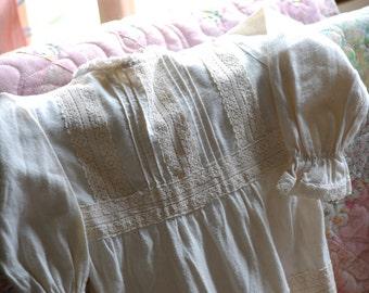 Natural Muslin Toddler Hippie Dress