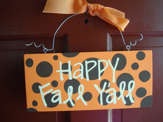 Happy Fall Y'all- halloween sign