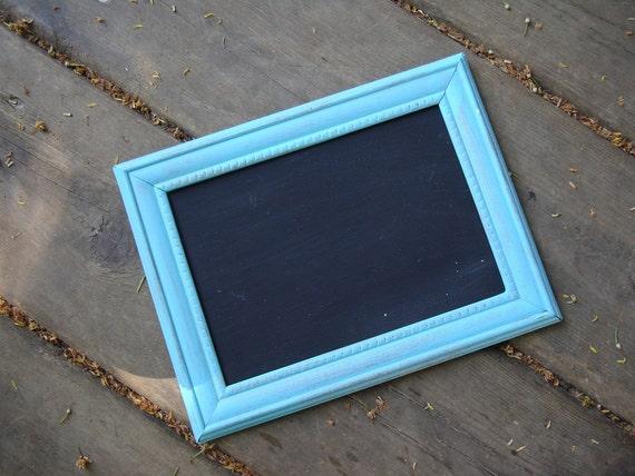Aqua-  Chalkboard frame - Photo prop
