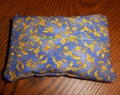 Periwinkle Scroll Floral Purse Tissue Cozy/Holder