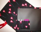 Valentines Heart Balloons Chalkboard Mat For Kids/Placemat