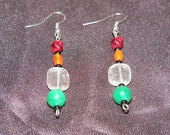 Stone & Glass Beaded Earrings