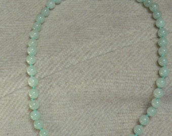 Light Green Vintage Beaded Necklace