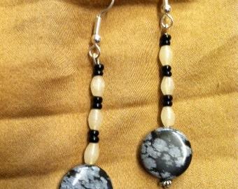 Black & White Stone Earrings
