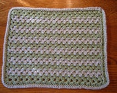 Crocheted Table Mat - Placemat - Tea Green & Natural Colored