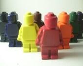 Lego Minifig Crayons - Minifigure, Lego Guy - Set of 8 - CrayonMavens