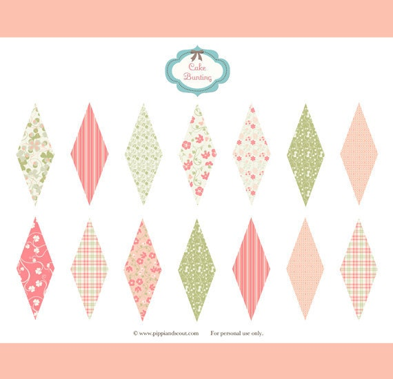 Items similar to Cake Bunting - Susie on Etsy