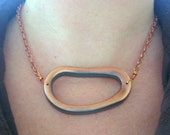 Copper Loop Choker Necklace - CLEARANCE