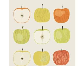 Apples - Original Illustrated Digital Image for Download and Printing