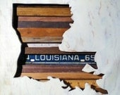 Reclaimed Wood Art - Louisiana