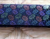Vintage Floral  Black Clutch