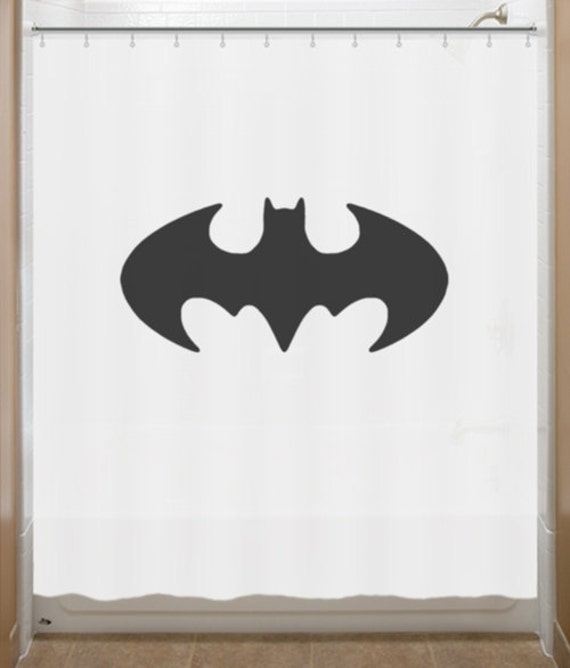 Batman Shower Curtain Batman Retro Original Bat by SHOWERCURTAINS