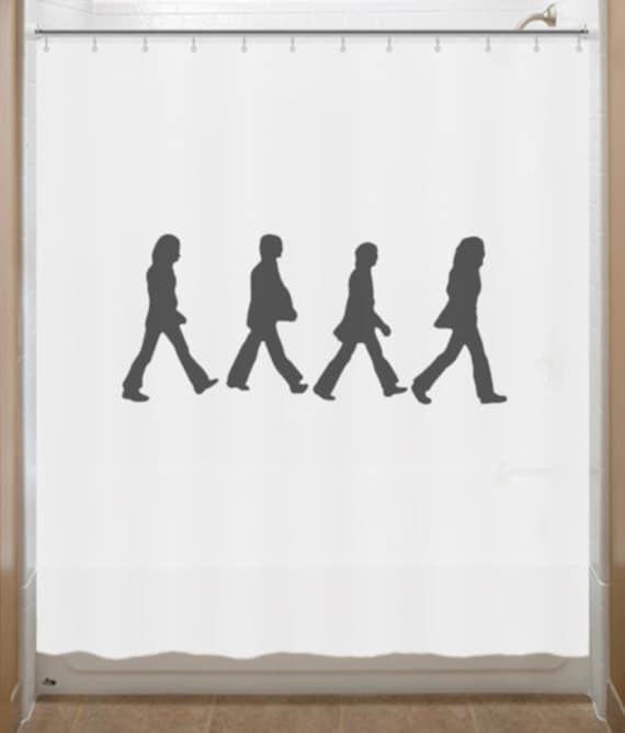 Abbey Road Shower Curtain Beatles bathroom decor bath kids