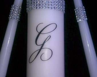 Glitz and Glam unity candle set
