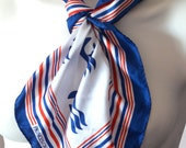 Treasury ItemLOVE BOAT, Princess Cruises Logo Nautical Scarf NOW 50% off check ad for code