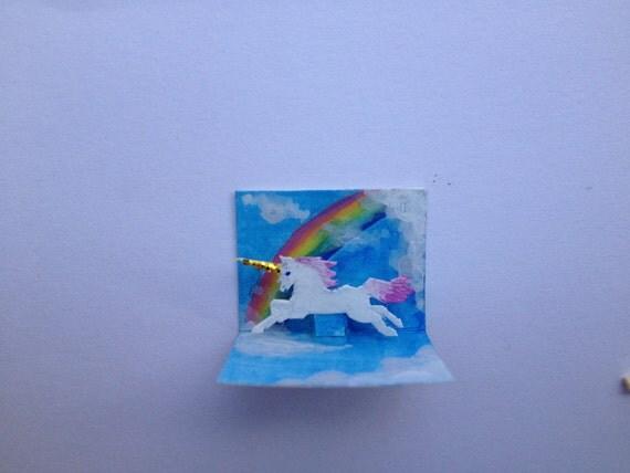 Tiny Unicorn Pop-up Card