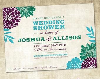 Wedding Shower Invitation (PRINTABLE FILE)