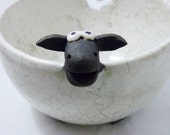 Raku Sheep Yarn Bowl